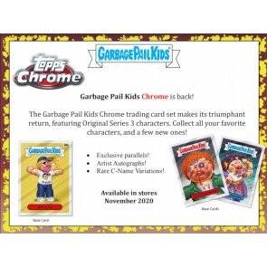 2020 Topps Garbage Pail Kids Chrome Hobby 12 Box Case