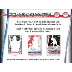 2020 Topps US Olympics & Paralympic Hopefuls Hobby 12 Box Case