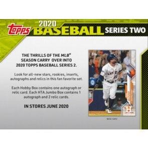 2020 Topps Series 2 Baseball Jumbo 6 Box Case