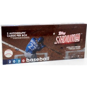 2020 Topps Stadium Club Baseball Hobby Box