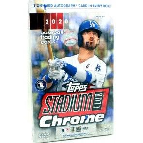 2020 Topps Stadium Club Chrome Baseball Hobby 16 Box Case