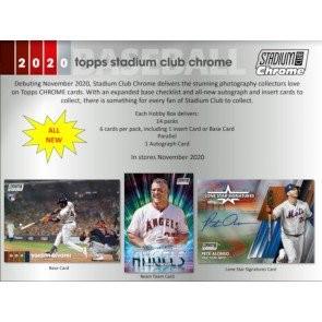 2020 Topps Stadium Club Chrome Baseball Hobby Box