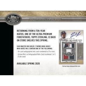 2020 Topps Sterling Baseball Hobby 8 Box Case