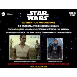 2020 Topps Star Wars Authentics Autographed 8x10 Photo & Trading Card 12 Box Case