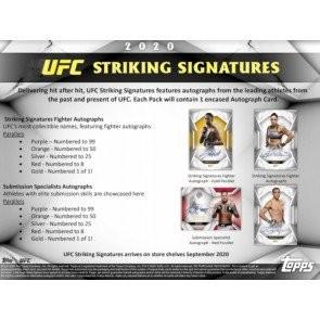 2020 Topps UFC Striking Signatures Hobby 20 Box Case