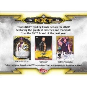 2020 Topps WWE NXT Hobby 8 Box Case