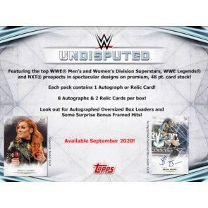 2020 Topps WWE Undisputed Wrestling Hobby 8 Box Case