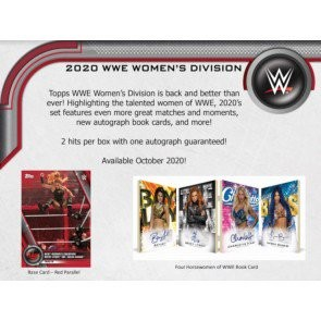 2020 Topps WWE Women's Division Hobby 12 Box Case