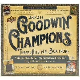 2020 Upper Deck Goodwin Champions Hobby 16 Box Case