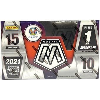 2020/21 Panini Mosaic UEFA Euro Soccer Hobby Box