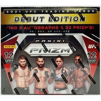 2021 Panini Prizm UFC Hobby 12 Box Case
