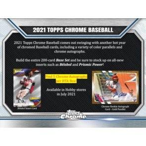 2021 Topps Chrome Baseball Jumbo HTA 8 Box Case