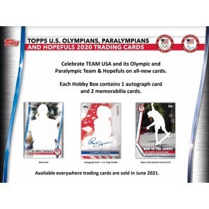 2021 Topps US Olympics & Paralympic Hopefuls Hobby 12 Box Case
