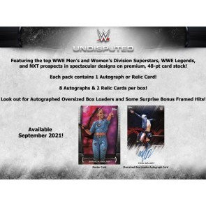 2021 Topps WWE Undisputed Wrestling Hobby 8 Box Case