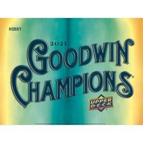 2021 Upper Deck Goodwin Champions Hobby 8 Box Case