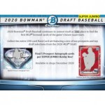 2020 Bowman Draft Baseball Super Jumbo 6 Box Case