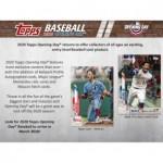 2020 Topps Opening Day Baseball Hobby 20 Box Case