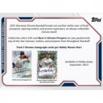 2021 Bowman Chrome Baseball Hobby 12 Box Case