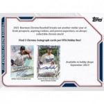 2021 Bowman Chrome Baseball HTA Choice 12 Box Case
