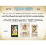 2021 Topps Allen & Ginter Baseball Hobby 12 Box Case