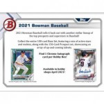 2021 Bowman Baseball Hobby 12 Box Case