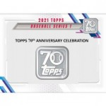 2021 Topps Series 1 Baseball Hobby 12 Box Case