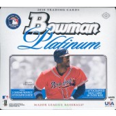 2010 Bowman Platinum Baseball Hobby 6 Box Case