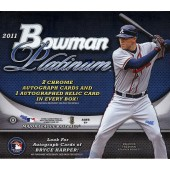 2011 Bowman Platinum Baseball Hobby 6 Box Case