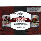 2011 Leaf Metal Poker Hobby 12 Box Case