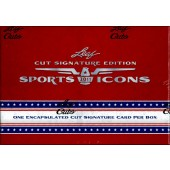 2011 Leaf Sports Icons Cut Signature Edition Hobby 12 Box Case