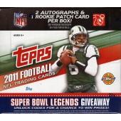 2011 Topps Football Jumbo (HTA) 6 Box Case