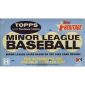 2011 Topps Heritage Minor League Baseball Hobby 6 Box Case