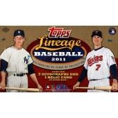 2011 Topps Lineage Baseball Hobby 10 Box Case