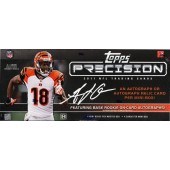 2011 Topps Precision Football Hobby 6 Box Case
