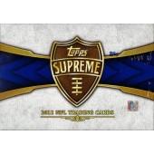 2011 Topps Supreme Football Hobby 16 Box Case