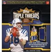 2011 Topps Triple Threads Football Hobby 18 Box Case
