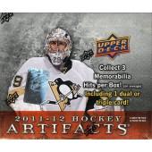 2011/12 Upper Deck Artifacts Hockey Hobby 16 Box Case