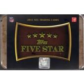 2011 Topps Five Star Football Hobby 3 Box Case