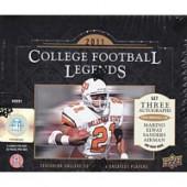 2011 Upper Deck College Legends Football Hobby 12 Box Case