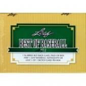 2012 Leaf Best of Baseball Hobby 3 Box Case