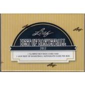 2012 Leaf Best of Basketball Hobby Box