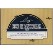 2012 Leaf Best of Basketball Hobby 3 Box Case