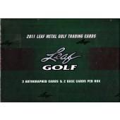 2012 Leaf Metal Golf Hobby 12 Box Case