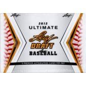 2012 Leaf Ultimate Draft Baseball Hobby 12 Box Case