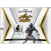 2012 Leaf Ultimate Draft Football Hobby 12 Box Case