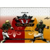 2012 Leaf Valiant Football Hobby 10 Box Case