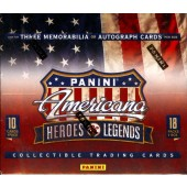 2012 Panini Americana Heroes and Legends Hobby 16 Box Case