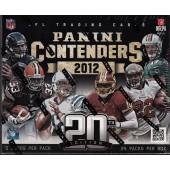2012 Panini Contenders Football Hobby 12 Box Case