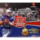 2012 Topps Football Jumbo HTA Hobby 6 Box Case