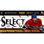 2013/14 Panini Select Hockey Hobby 12 Box Case